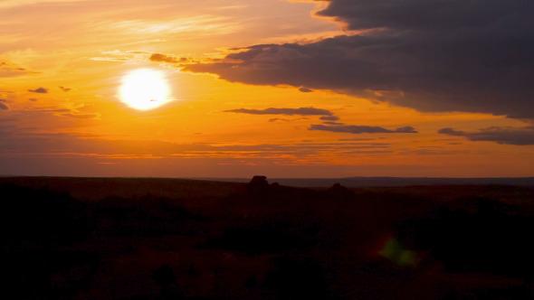 Golden Sunset Leaving Day