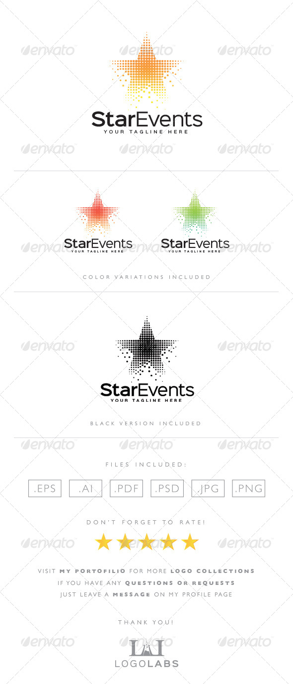GraphicRiver Star Events Logo 8592324