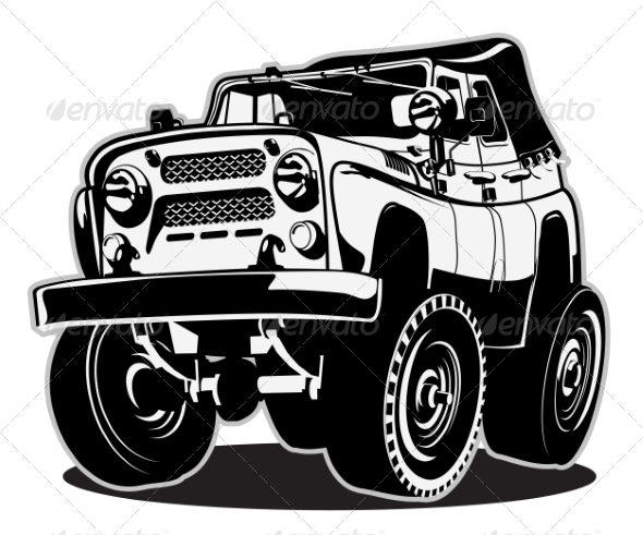 GraphicRiver Cartoon Jeep 8592330