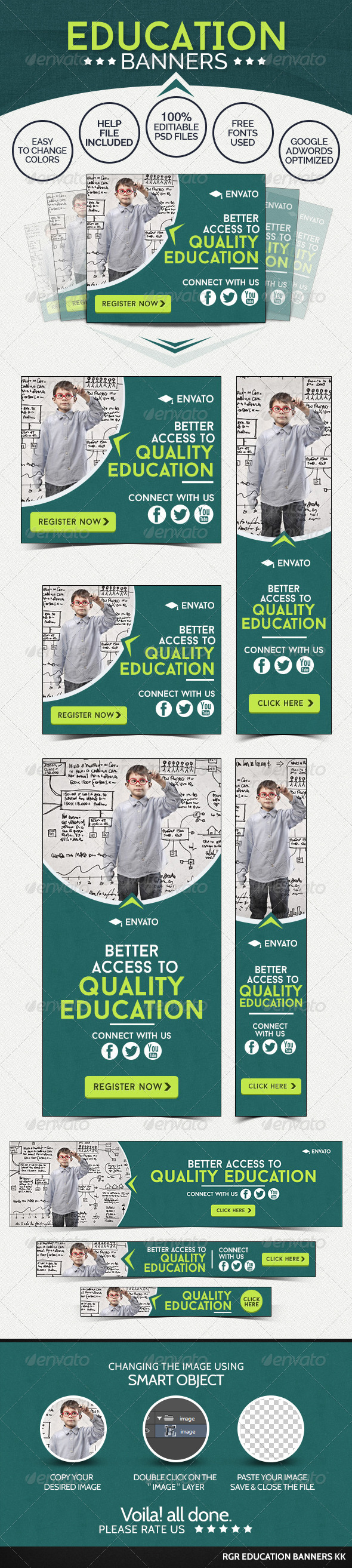 GraphicRiver Education Banners 8592369