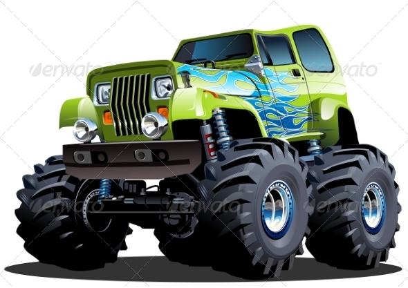 GraphicRiver Cartoon Monster Truck 8592425