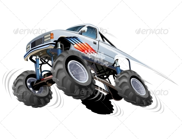 GraphicRiver Cartoon Monster Truck 8592456