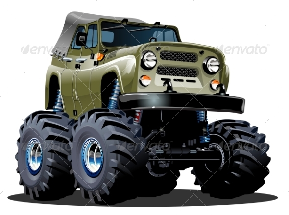 GraphicRiver Cartoon Monster Truck 8592462