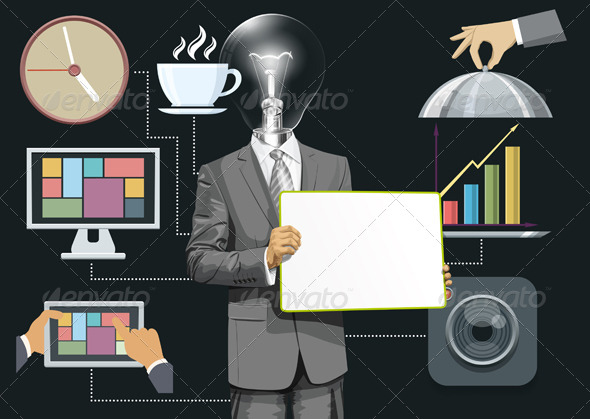 GraphicRiver Flat Background With People 8592465