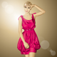 Vector Surprised Blonde in Pink Dress - GraphicRiver Item for Sale