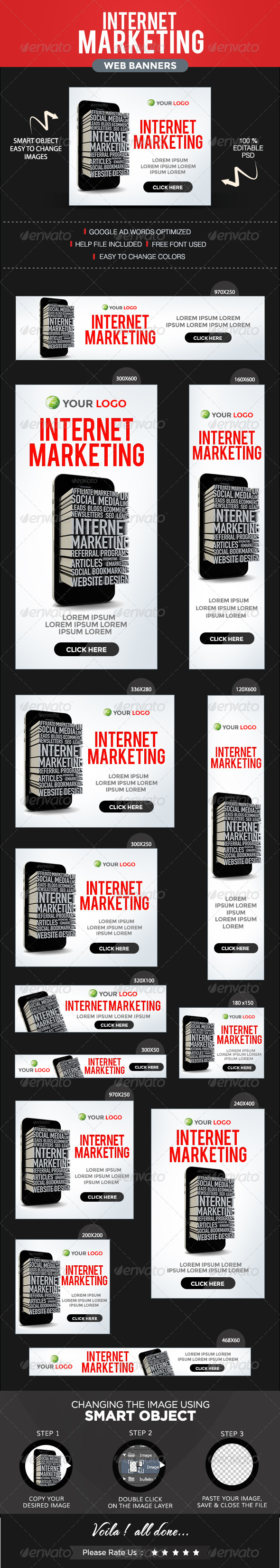 GraphicRiver Internet Marketing Banners 8592554