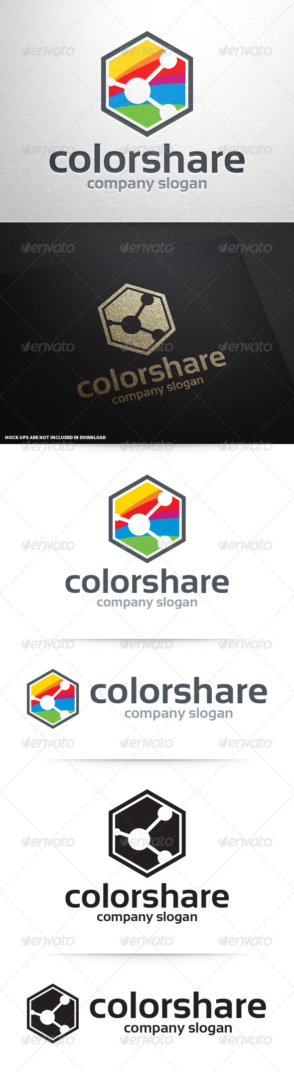 GraphicRiver Color Share Logo Template 8592559