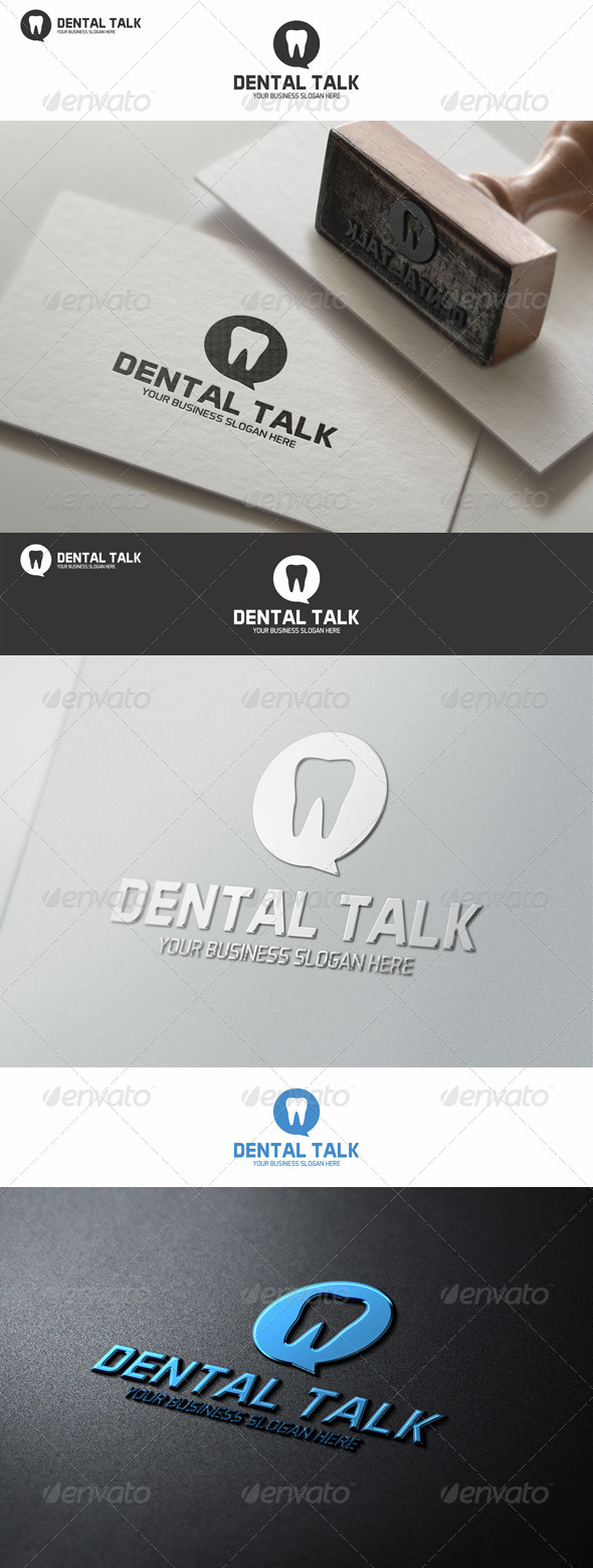 GraphicRiver Dental Talk Logo Template 8592561