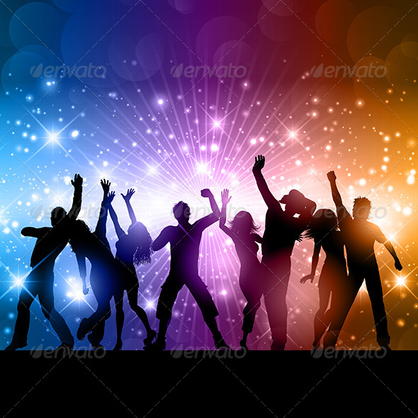 GraphicRiver Party People Background 8592568