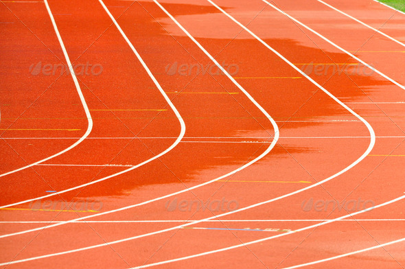 Athletics Running Track - Stock Photo - Images