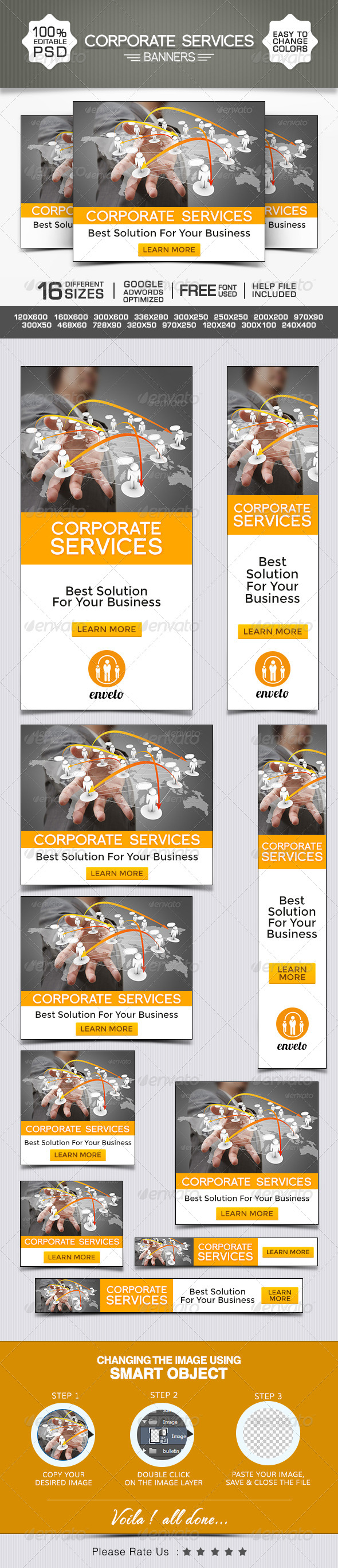 GraphicRiver Corporate Marketing Banners 8592584