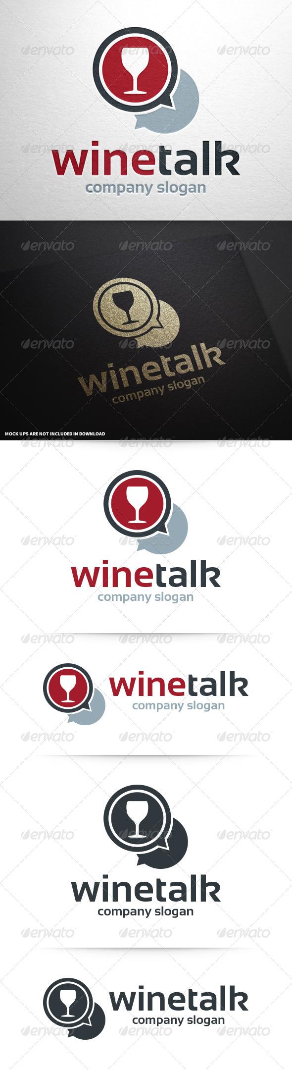 GraphicRiver Wine Talk Logo Template 8592892