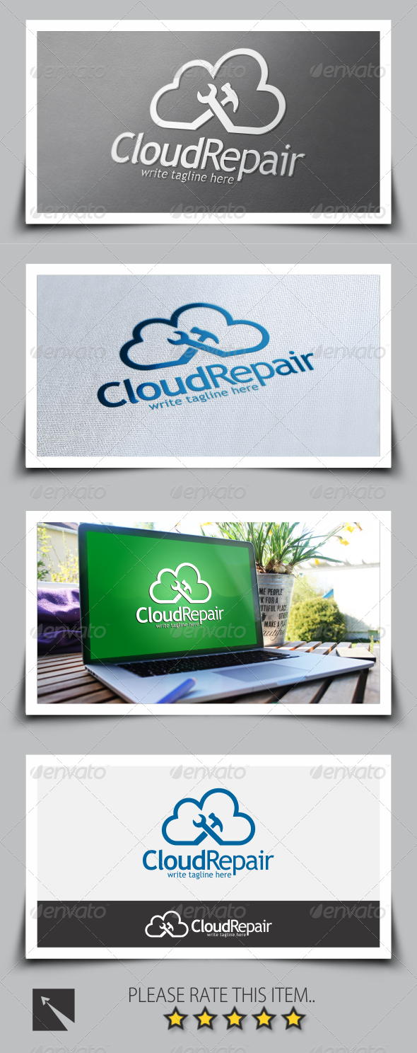 GraphicRiver Cloud Tools Logo Template 8593232