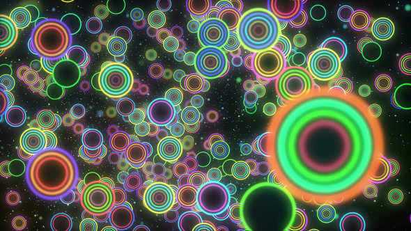 VJ Colorful Circle Background