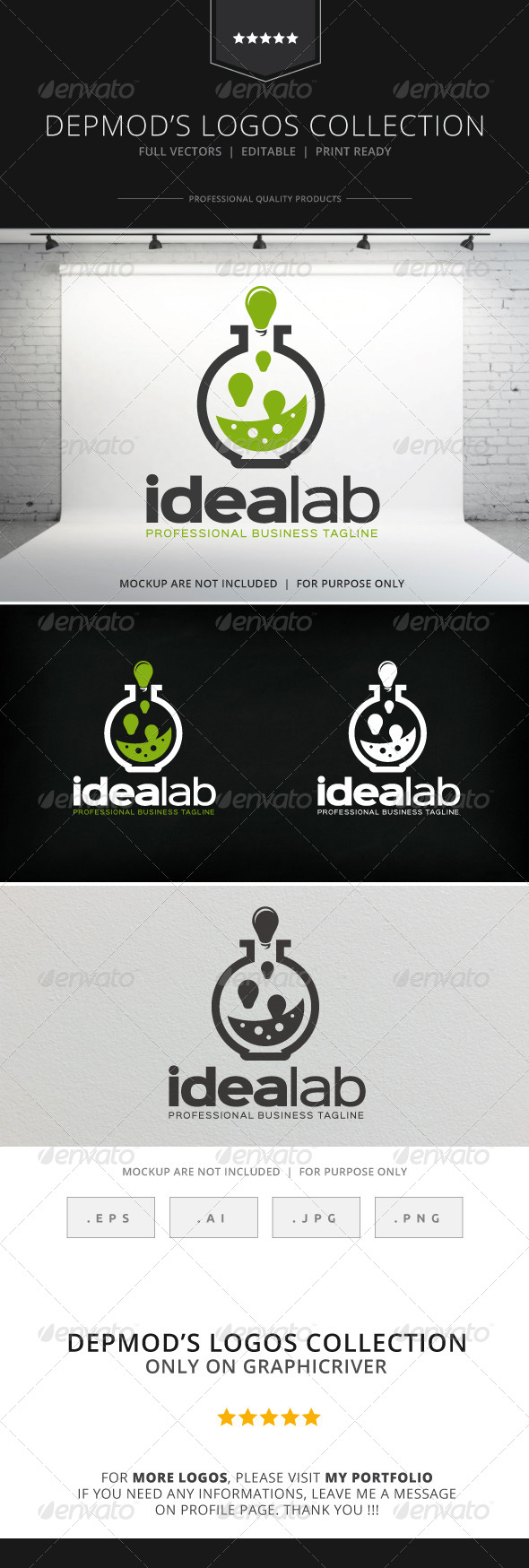 GraphicRiver Idea Lab Logo 8593823