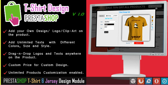 CodeCanyon Custom Product and T-shirt Design for Prestashop 8593926