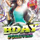 Bday Forever Party Flyer - GraphicRiver Item for Sale