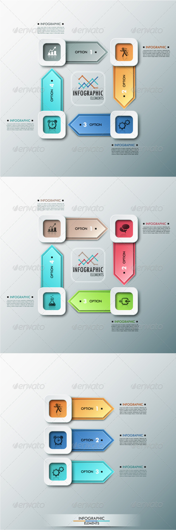 GraphicRiver Modern Infographic Options Banner 3 Items 8594799