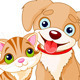 Dog and Cat Together - GraphicRiver Item for Sale