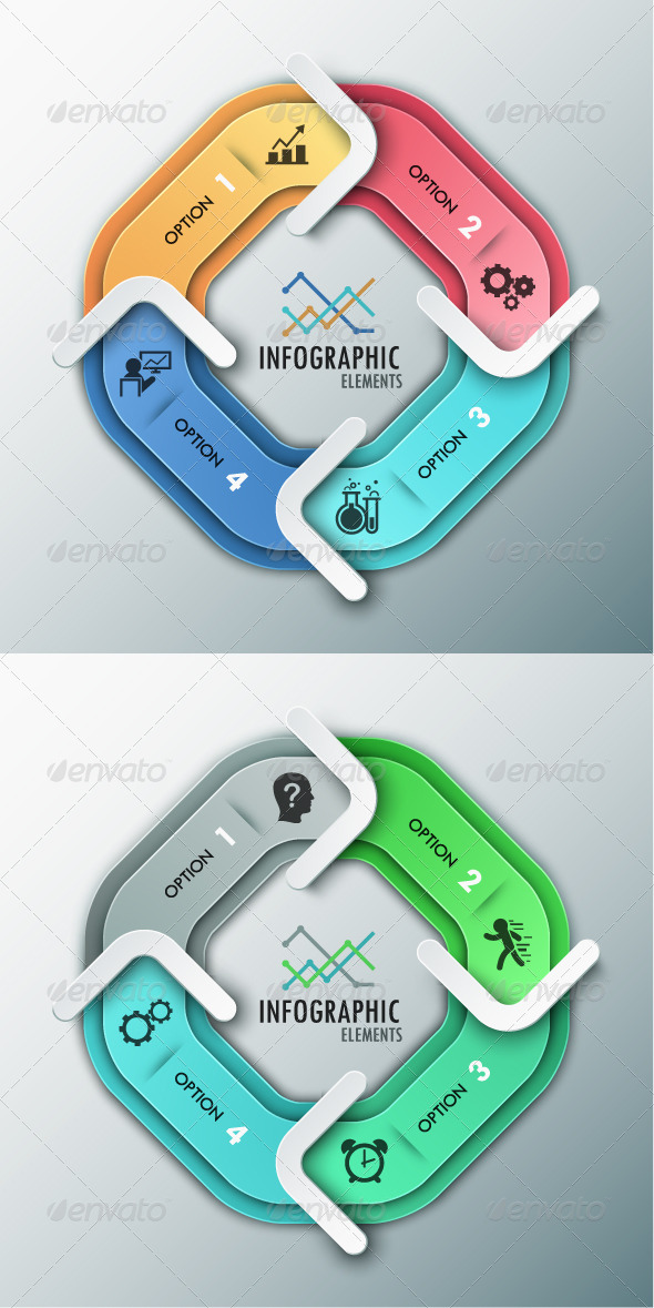 GraphicRiver Modern Infographic Options Banner 2 Colors 8594814