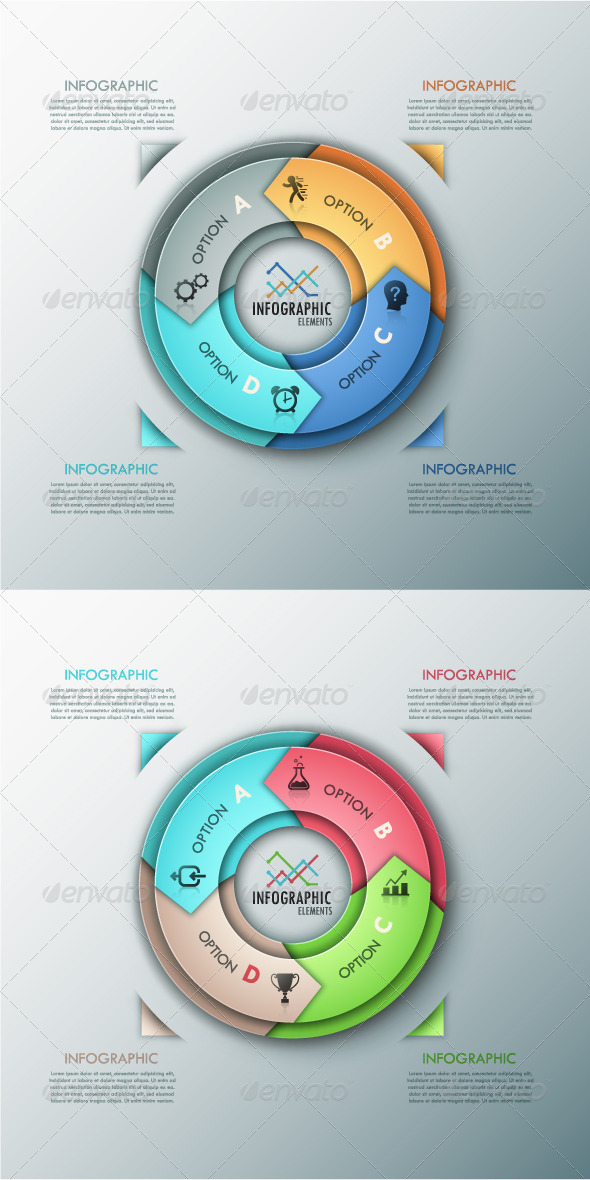 GraphicRiver Modern Infographic Options Banner 2 Colors 8594826