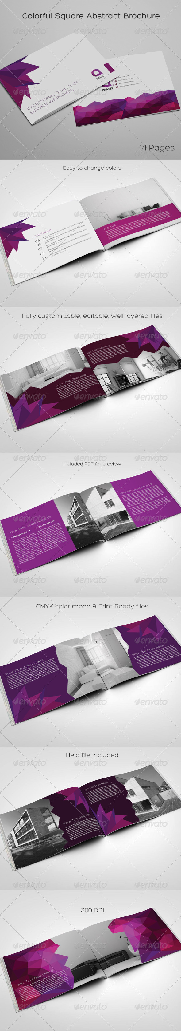 GraphicRiver Colorful Square Abstract Brochure 8594835