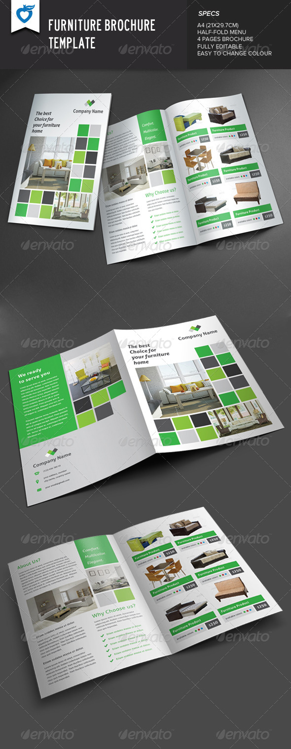 GraphicRiver Furniture Brochure 8594854
