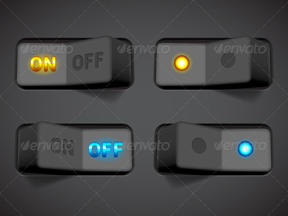 GraphicRiver On and Off Switches 8594875