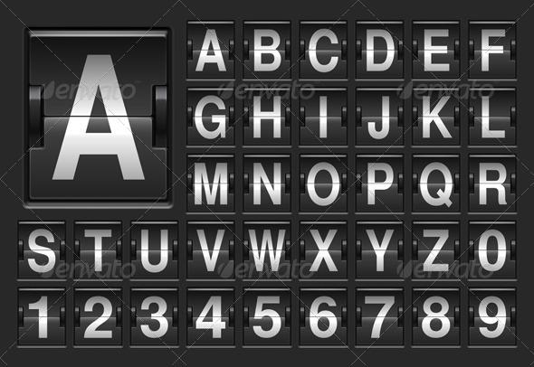 GraphicRiver Scoreboard Alphabet 8594885