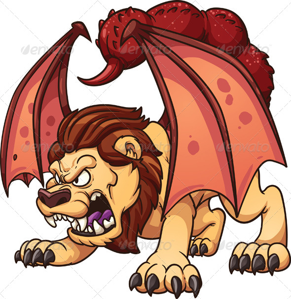 GraphicRiver Cartoon Manticore 8594901