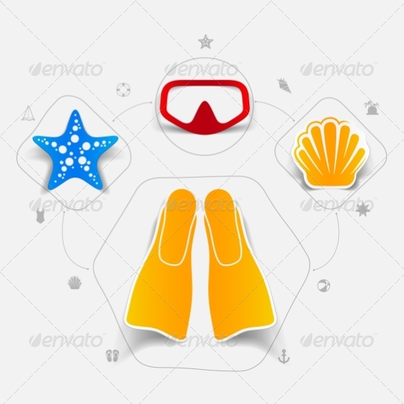 GraphicRiver Set of Summer Tourism Icons 8594916