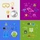 Set of Summer Tourism Icons - GraphicRiver Item for Sale
