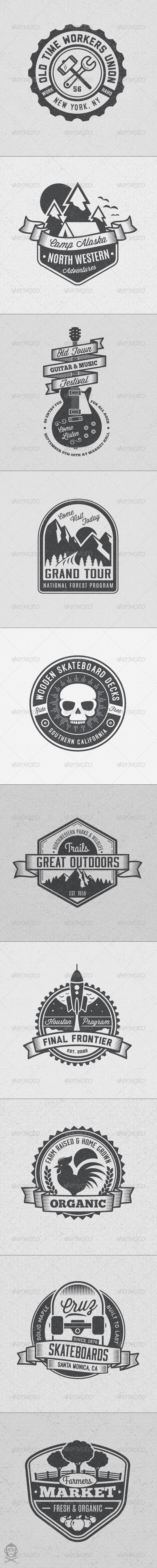 GraphicRiver Vintage Style Badges and Logos Vol 4 8594929