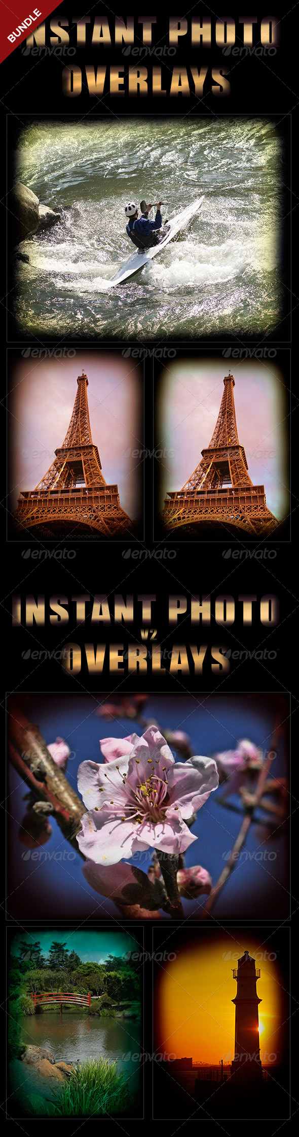 GraphicRiver Instant Photo Overlays Bundle 8594974