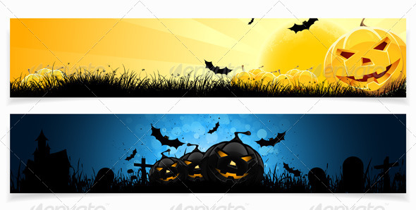 GraphicRiver Set of Halloween Banners 8595503