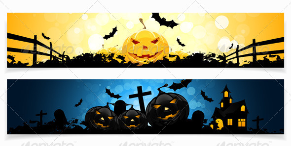 GraphicRiver Set of Halloween Banners 8595642