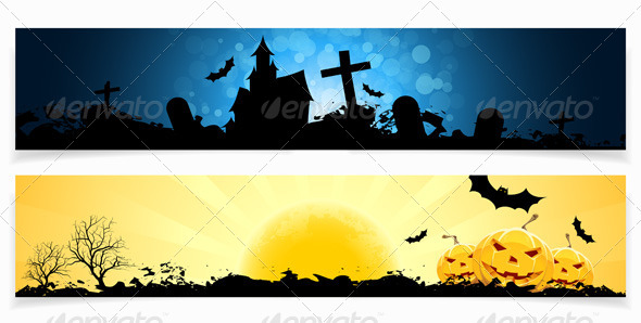 GraphicRiver Set of Halloween Banners 8595647