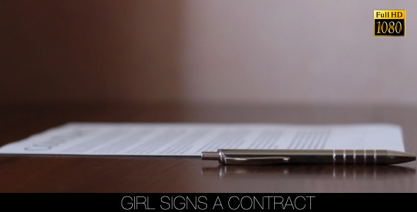 Girl Signs A Contract