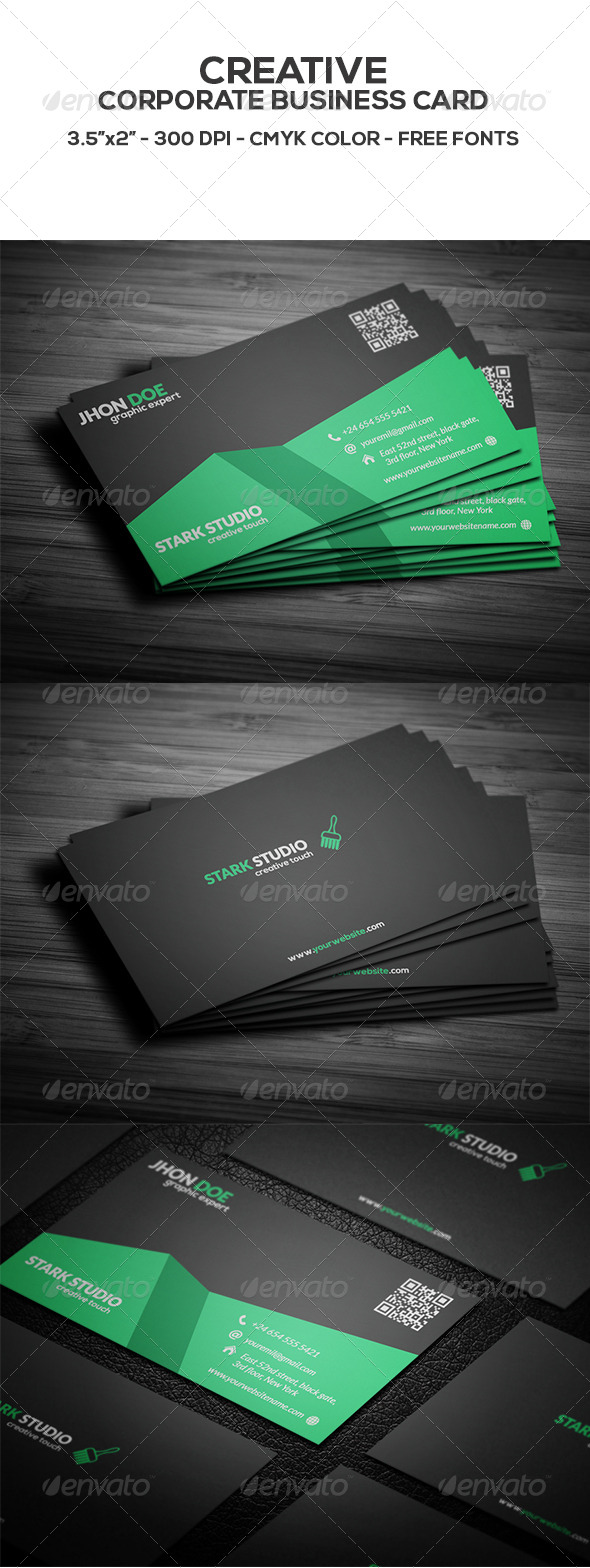 GraphicRiver Creative Business card 8595675