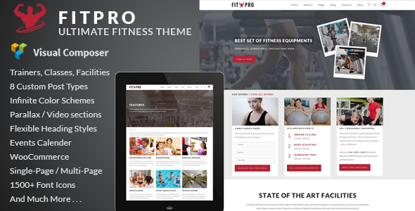 FitPro - Events Fitness Gym Sports WordPress Theme - Health & Beauty Retail