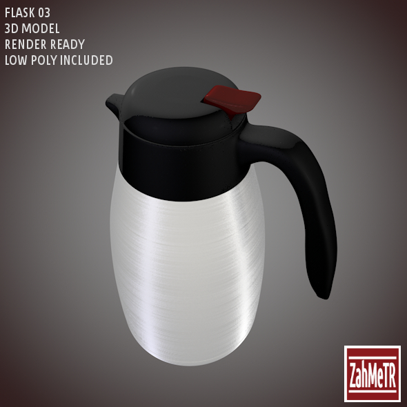Flask 03 Low – High Poly 3d Model - 3DOcean Item for Sale