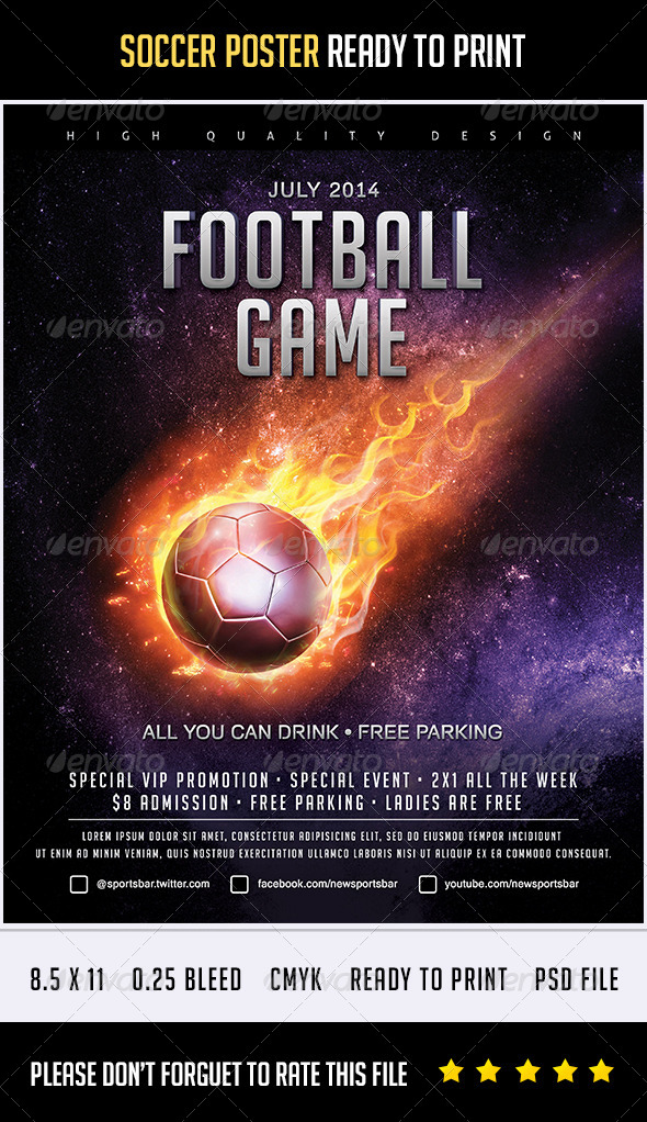 GraphicRiver Soccer Poster Flames 8170000