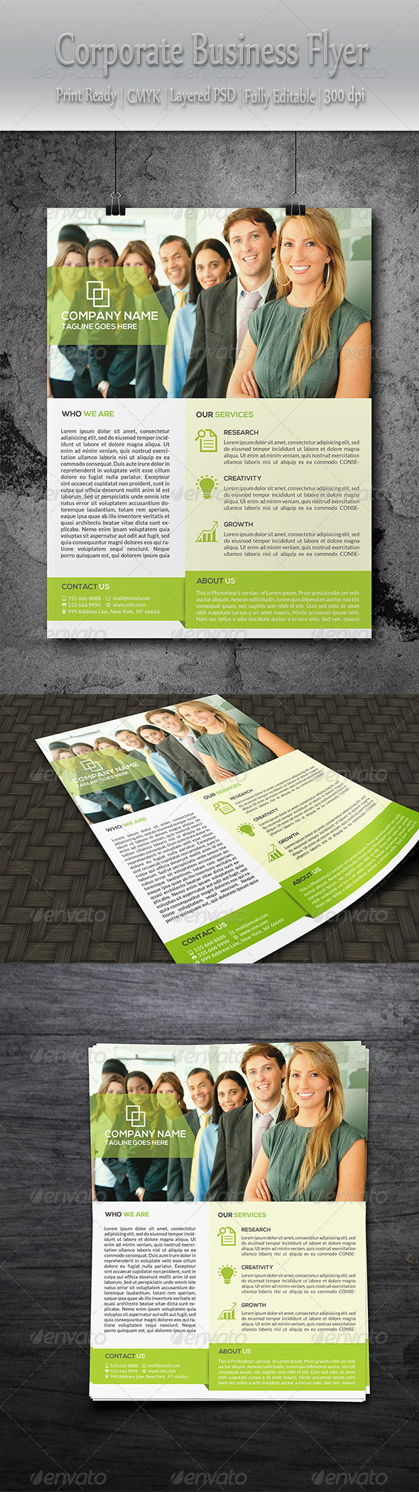 GraphicRiver Clean Corporate Flyer 8589522