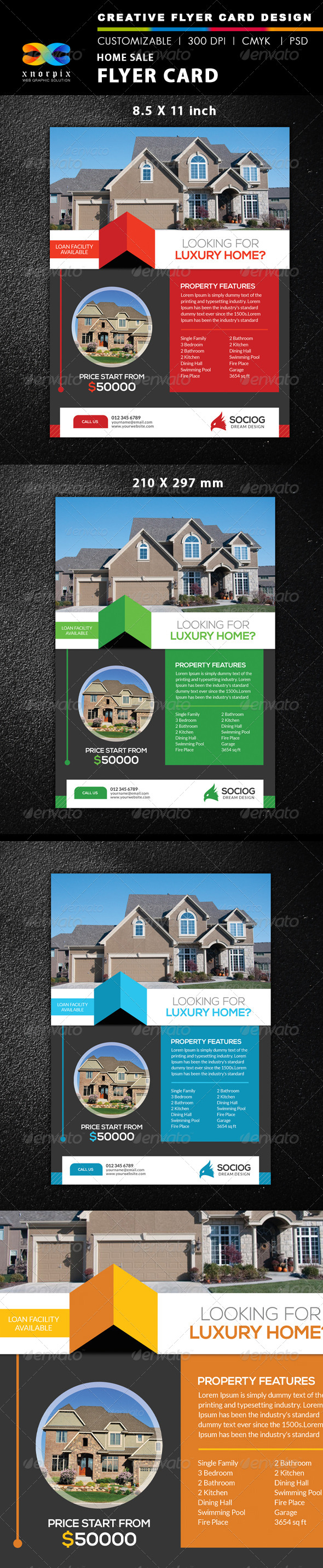 GraphicRiver Home Sale Flyer 8596814