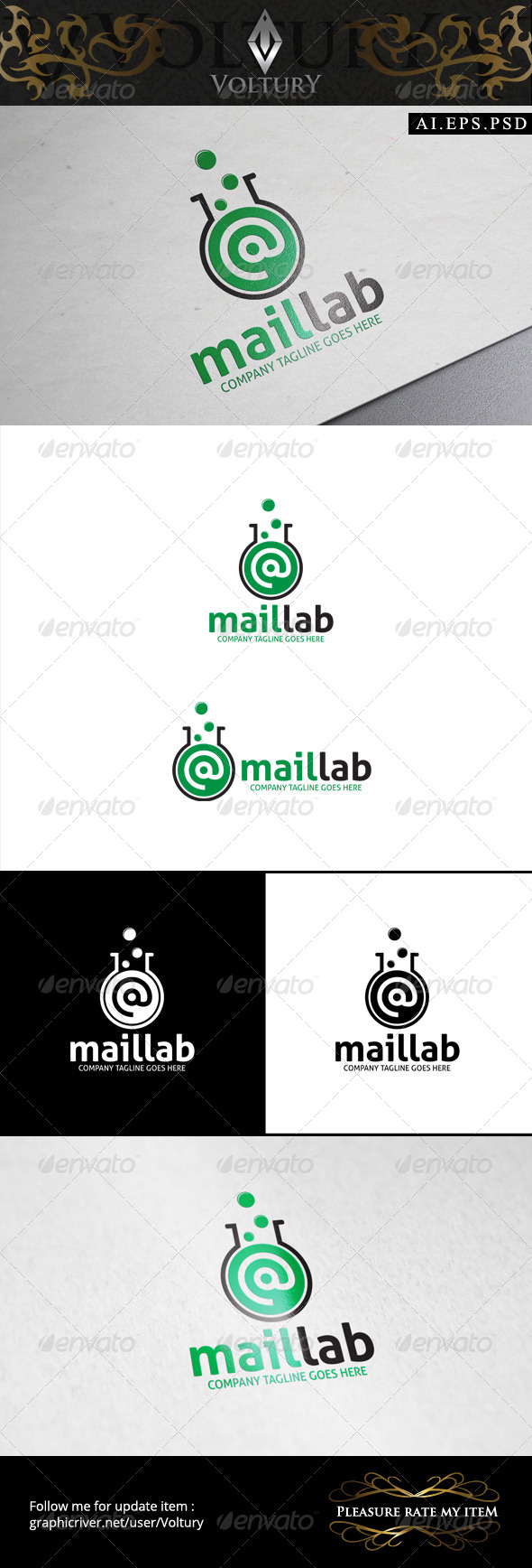 GraphicRiver Mail Lab Logo 8596815