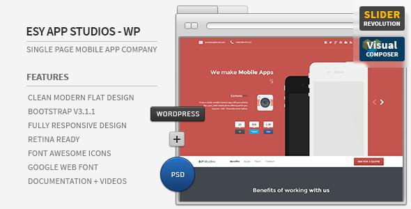 Esy App Responsive Wordpress One Page Theme