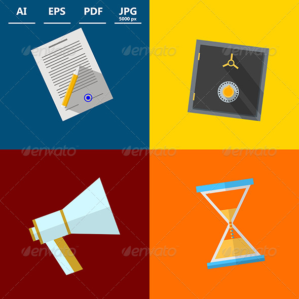 GraphicRiver Square Icons for Outsource 8596878