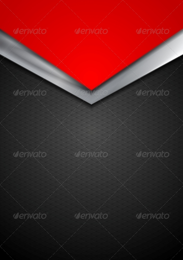 GraphicRiver Dark Silver and Red Tech Arrows Design 8597017