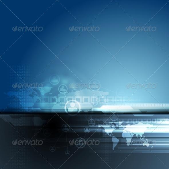 GraphicRiver Dark Blue Team Concept Background 8597053