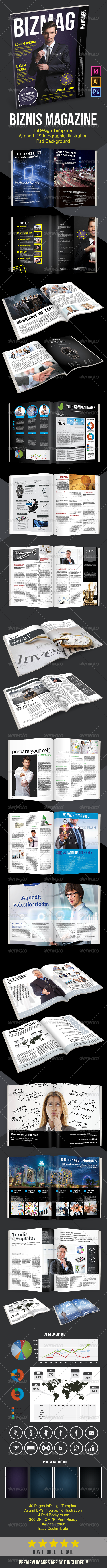 GraphicRiver Bussines Magazine Template 8597065